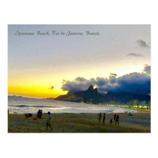 Ipanema BCH, Rio, Brasilien, Postkarte