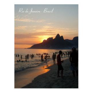Ipanema Strand, Rio de Janeiro, Brasilien Postkarte