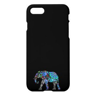 IPHONE6CASE-, DEKORATIVES BLAU ELEPHANT/GOODLUCK iPhone 8/7 HÜLLE