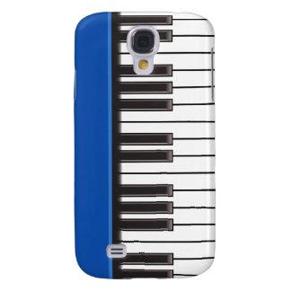 iPhone 3G Fall - Klavier-Schlüssel auf Blau Galaxy S4 Hülle
