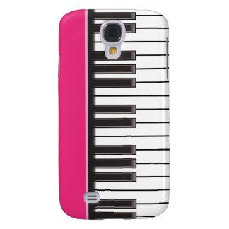 iPhone 3G Fall - Klavier-Schlüssel auf Fuschia Galaxy S4 Hülle
