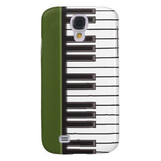 iPhone 3G Fall - Klavier-Schlüssel auf Grün Galaxy S4 Hülle