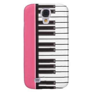 iPhone 3G Fall - Klavier-Schlüssel auf Rosa Galaxy S4 Hülle