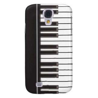 iPhone 3G Fall - Klavier-Schlüssel auf Schwarzem Galaxy S4 Hülle
