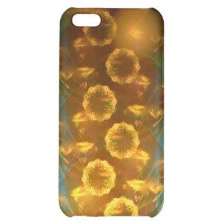 iPhone 4 4 s-Speck-Kasten Fraktal-Sonnenblumen