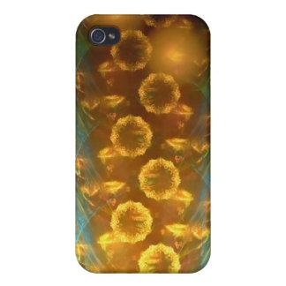 iPhone 4/4 s-Speck-Kasten: Fraktal-Sonnenblumen iPhone 4 Schutzhülle