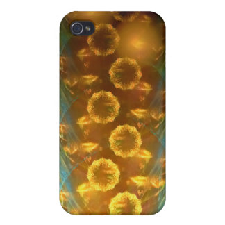 iPhone 4 4 s-Speck-Kasten Fraktal-Sonnenblumen Etui Fürs iPhone 4