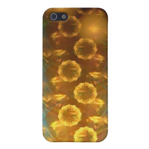 iPhone 4/4 s-Speck-Kasten: Fraktal-Sonnenblumen iPhone 5 Schutzhüllen