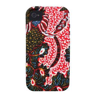 iphone 4/4s Fall mit einzigartigem Batik Vibe iPhone 4 Case