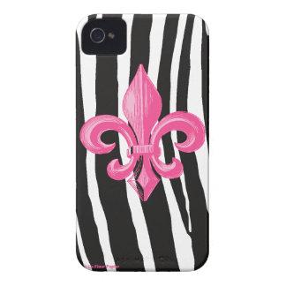 iPhone 4/4s kaum dort - Zebra mit Pink Fleur iPhone 4 Hüllen