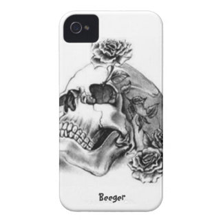Iphone 4 BT - zeichnen Sie Tätowierungs-Schädel un iPhone 4 Cover