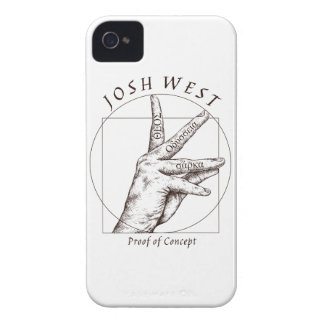 iPhone 4 Fall-Beweis des Konzept-Schwarz-Logos iPhone 4 Cover