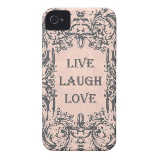 iphone 4 Fall. .LIVE LACHEN-LIEBE iPhone 4 Case-Mate Hülle