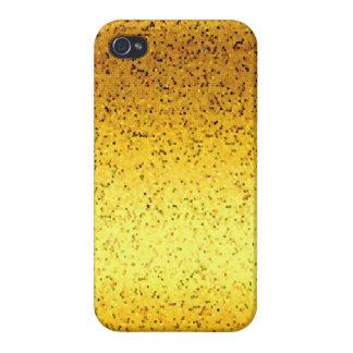 iPhone 4 Fall-Savvy Glitzer-Grafik-Gold Etui Fürs iPhone 4