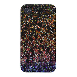 iPhone 4 Fall-Savvy Glitzer-Grafik-Hintergrund iPhone 4 Case