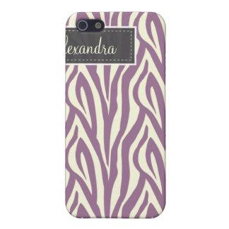 iPhone 4 Zebra-Muster-Fall (Lavendel) iPhone 5 Cover