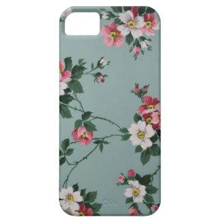 iPhone 5/5s blaues Vintages Blumen iPhone 5 Cover