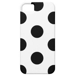 iPhone 5/5S Fall-Tupfen weiß u. schwarz