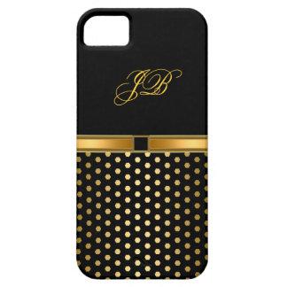 iPhone 5 Case-Mate-Fall-Goldschwarze Stelle