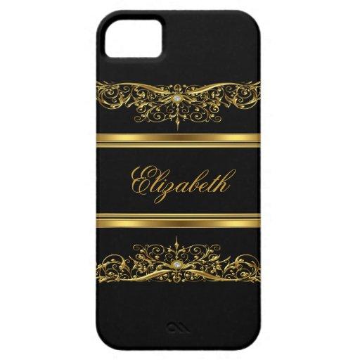 iPhone 5 elegantes nobles Gold mit Blumen iPhone 5 Cover
