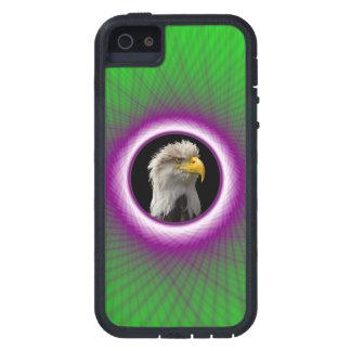 iPhone 5 Fall-grünes und violettes gesponnenes Etui Fürs iPhone 5