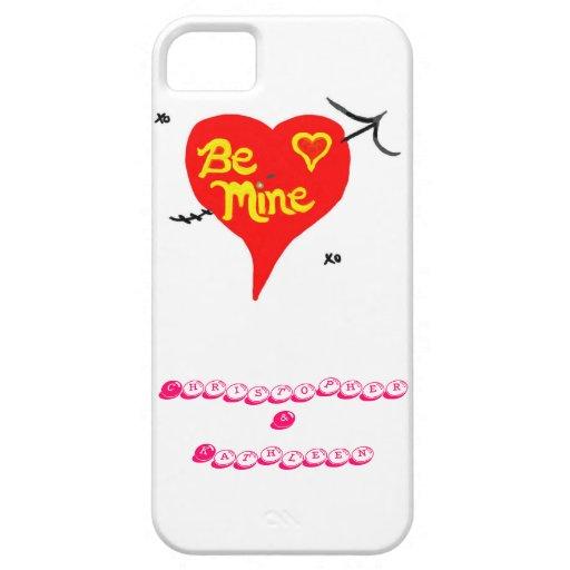 iPhone 5 Fall ist Bergwerk-Herz BESONDERS ANFERTIG iPhone 5 Etuis