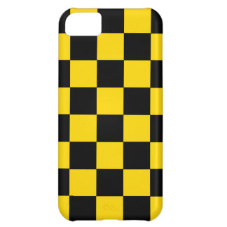 iPhone 5 Retro Achtzigerjahre gelbes Schachbrett iPhone 5C Hülle