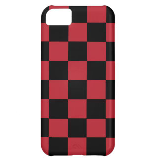 iPhone 5 Retro Achtzigerjahre Rot-Schachbrett Hülle Für iPhone 5C