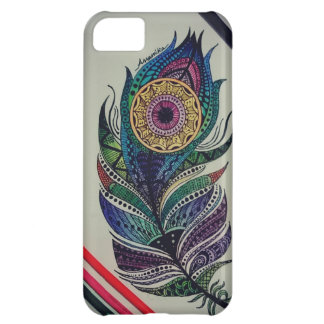 iPhone 5c cover| Mandala-Pfaufeder iPhone 5C Hülle
