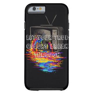 iPhone 6/6s Fall - Bluten-Regenbogen-Fernsehen Tough iPhone 6 Hülle