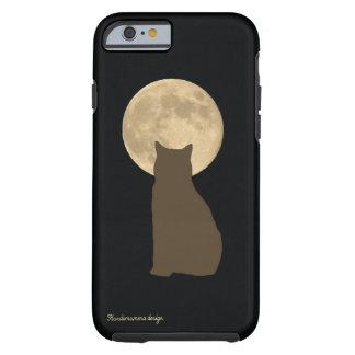 iPhone 6/6s Fall mit der Katze, die den Mond Tough iPhone 6 Hülle