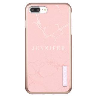 iPhone 6/6s Feder plus - Glanz - rosa Marmor Incipio DualPro Shine iPhone 8 Plus/7 Plus Hülle