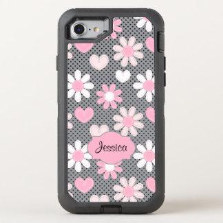 iPhone 6/6s | Gänseblümchen, Tupfen, Herzen OtterBox Defender iPhone 8/7 Hülle