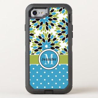 iPhone 6/6s | Monogramm, mit Blumen, Tupfen OtterBox Defender iPhone 8/7 Hülle