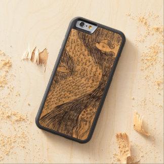 iPhone 6/6s Stoßkirschhölzerner Kasten durch Kel Bumper iPhone 6 Hülle Kirsche