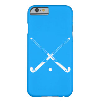 iPhone 6 Fall Feld-Hockey-Silhouette-Blau Barely There iPhone 6 Hülle