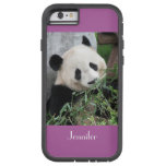 iPhone 6 Fall-Panda-leuchtende Orchidee Bkgnd Tough Xtreme iPhone 6 Hülle