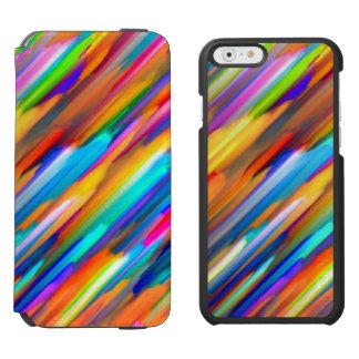 iPhone 6 Geldbörsen-Kasten buntes digitalart G391 Incipio Watson™ iPhone 6 Geldbörsen Hülle