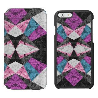 iPhone 6 Geldbörsen-Kasten-Marmor geometrisches Incipio Watson™ iPhone 6 Geldbörsen Hülle