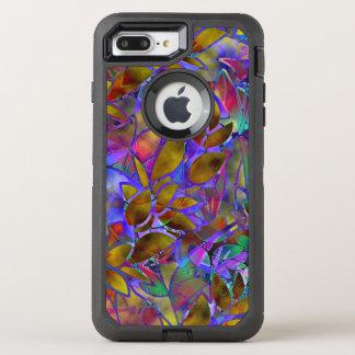 iPhone 6 Plusabstraktes beflecktes mit Blumenglas OtterBox Defender iPhone 8 Plus/7 Plus Hülle