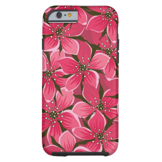 iPhone 6S schöner rosa Blumendruck beweglichen Tough iPhone 6 Hülle