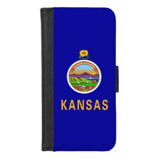 iPhone 7/8 Geldbörsen-Kasten mit Flagge von Kansas iPhone 8/7 Geldbeutel-Hülle