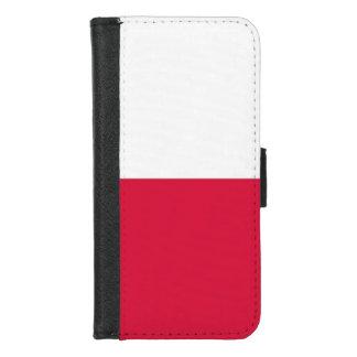 iPhone 7/8 Geldbörsen-Kasten mit Flagge von Polen iPhone 8/7 Geldbeutel-Hülle