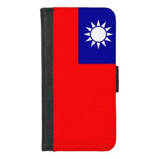 iPhone 7/8 Geldbörsen-Kasten mit Flagge von Taiwan iPhone 8/7 Geldbeutel-Hülle
