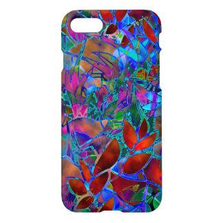 iPhone 7 Fall-abstraktes beflecktes mit Blumenglas iPhone 8/7 Hülle