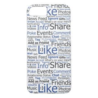 iPhone 7 Fall Facebook mögen Wort-Collage iPhone 8/7 Hülle