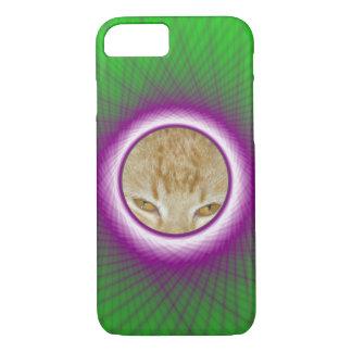 iPhone 7 Fall-grünes und violettes gesponnenes iPhone 8/7 Hülle