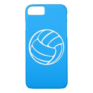 iPhone 7 Fall Volleyball-Weiß auf Blau iPhone 8/7 Hülle