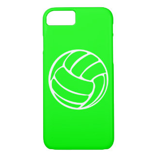 iPhone 7 Fall Volleyball-Weiß auf Grün iPhone 8/7 Hülle
