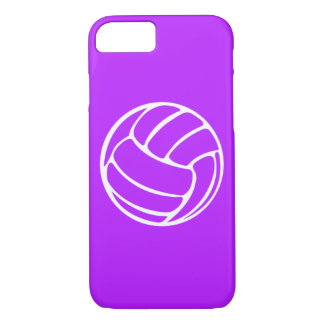 iPhone 7 Fall Volleyball-Weiß auf Lila iPhone 8/7 Hülle
